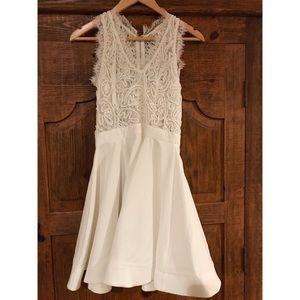 Women's white flare dress